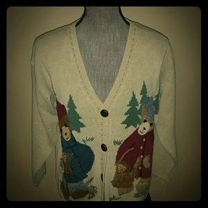 Vintage Bear Button Down Cardigan